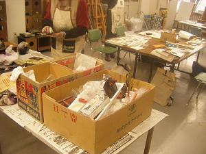 銅版画教室風景1