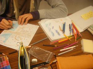 銅版画教室風景2