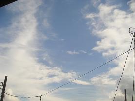 窓から見えた空