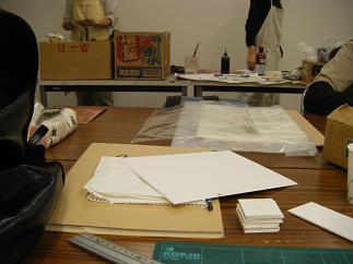 本日の版画教室