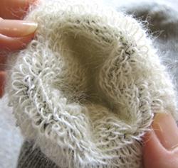 キッドモヘアあったかカシミア靴下ウール毛糸