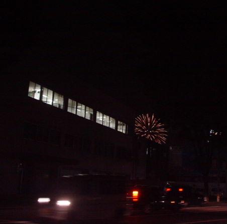 遠くの花火