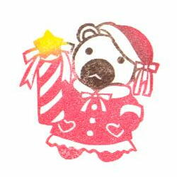 クリスマスくまガール色見本