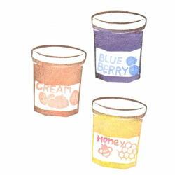ジャム瓶2色刷りその2色見本
