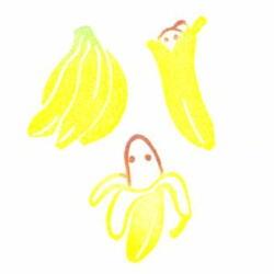 バナナ色見本