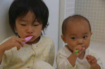 しっかり歯磨き!