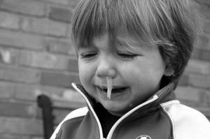 風邪を引く子供
