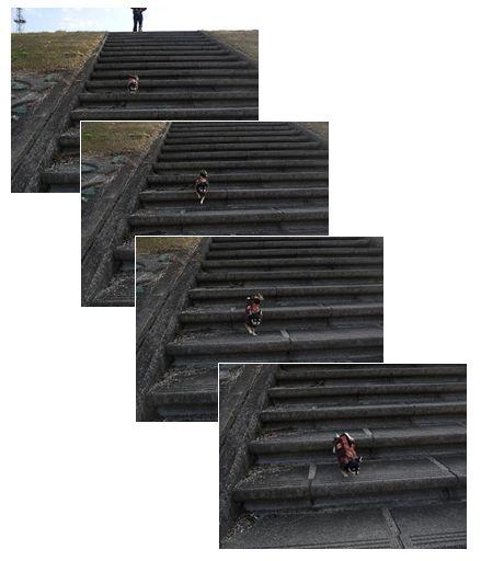 ビーン階段↓