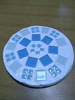モザイク作品1_丸い鍋敷き