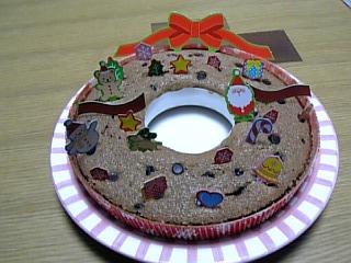 リース型チョコチップケーキ1