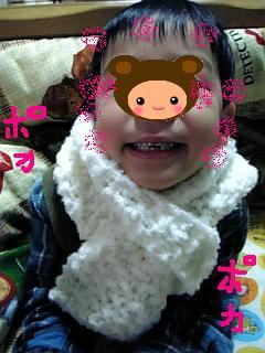 手編みのマフラー2