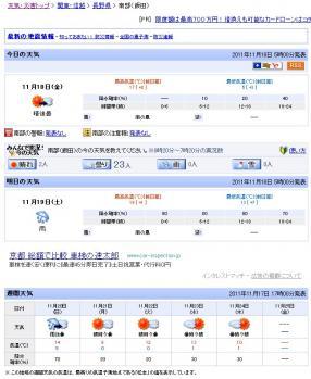20111118天気