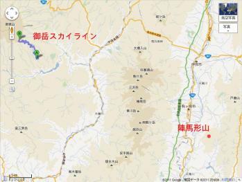 20111119御岳スカイライン位置