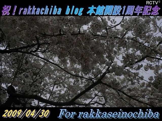 rakkachiba blog 開設1周年記念画像