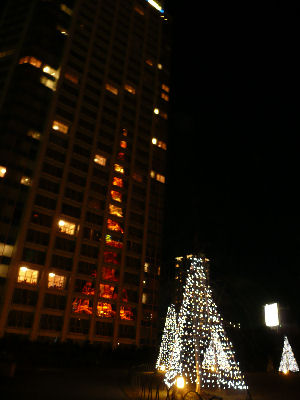 プリンスホテルにうつる東京タワー