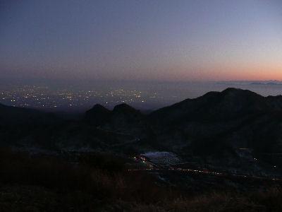 榛名富士・榛名山から見る、関東平野