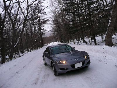 RX-8と光徳牧場への道