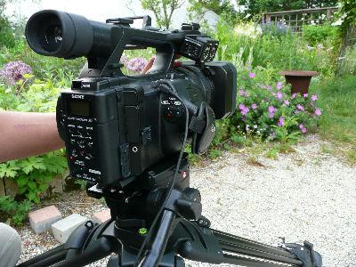 HVR-Z5J、オープンガーデンを撮る