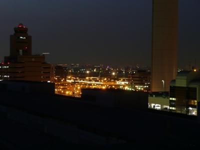 東京国際空港C滑走路の夕焼け