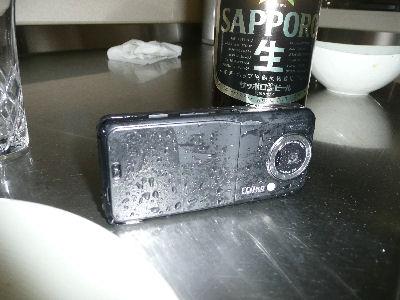 水に濡れてしまった934SH