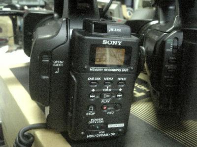 HVR-Z5JにHVR-MRC1Kを装着した所