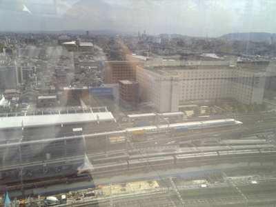 京都駅を上から眺める