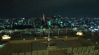 HVR-Z5Jで撮ったルークの屋根の上からみる、東京の夜景