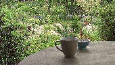 シンプリーガーデンで飲むコーヒー