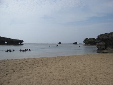 静かなビーチでした!