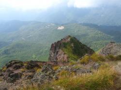 白根山山頂からの丸沼