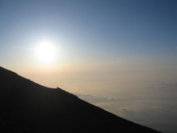 山頂アタック途中の景色3