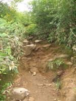 天神峠への道