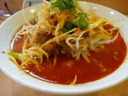 辛麺(細麺)広豚麺@溝の口