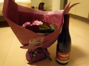 ブーケとワインとレオにゃんと・・・20081031