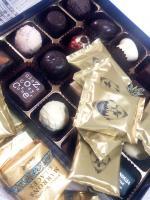 チョコレートの山。