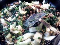 挽肉と野菜炒め(味付とくになし)