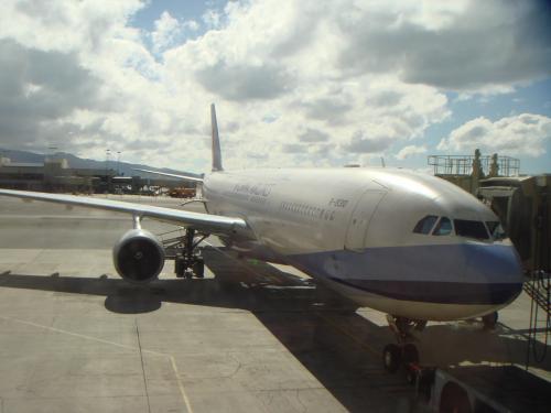 帰りの飛行機・・