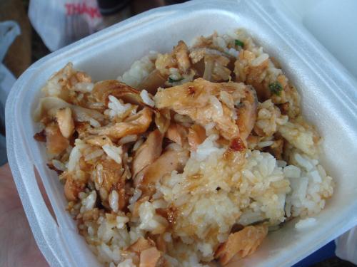 鮭味噌炒め飯