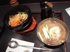 ビビンパと冷麺のセット