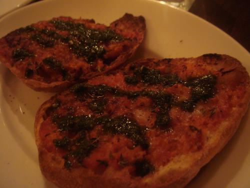 アンチョビ・トマトのパリパリ焼き