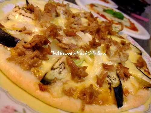DSCF10・26サウザンアイランドのピザ