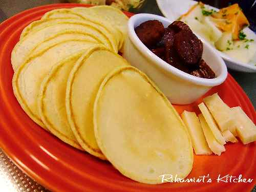 DSCF11・23ナツメグパンケーキ&サラミ・チーズ