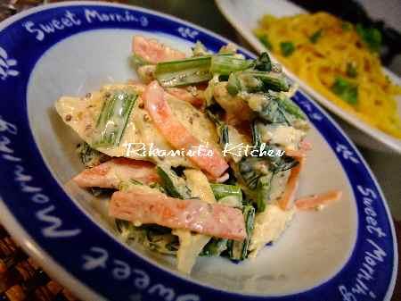 DSCF12・8小松菜とササミのマヨサラダ