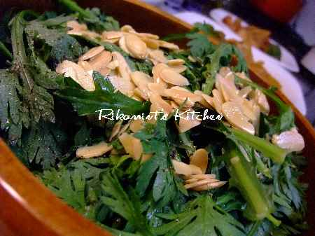 DSCF12・14春菊のサラダ