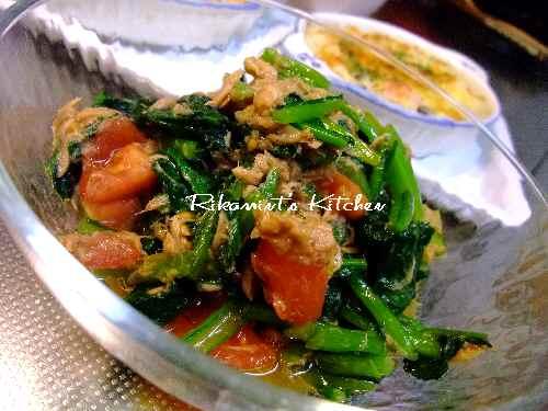 DSCF1・19小松菜とトマトのツナサラダ
