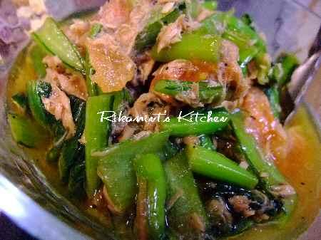 DSCF3・11小松菜とトマトのツナドレッシング