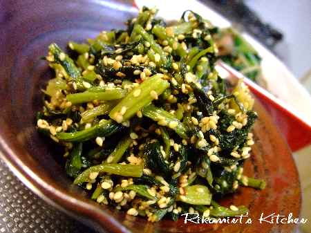 DSCF4・8高菜の油炒め