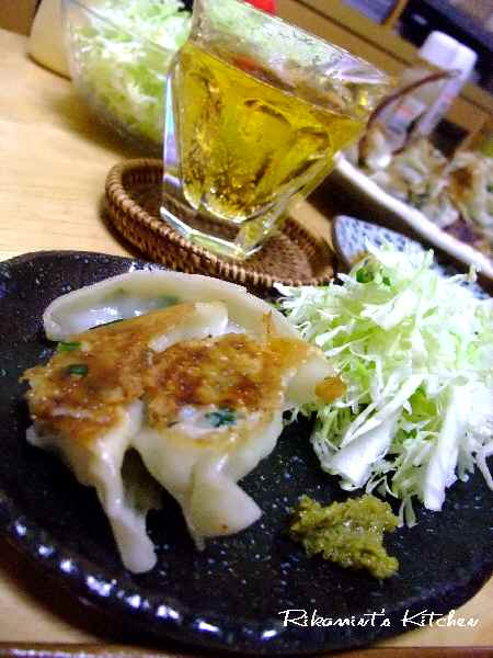 DSCF5・2餃子&ビール