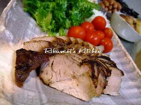 DSCF5・6焼き豚&サラダ