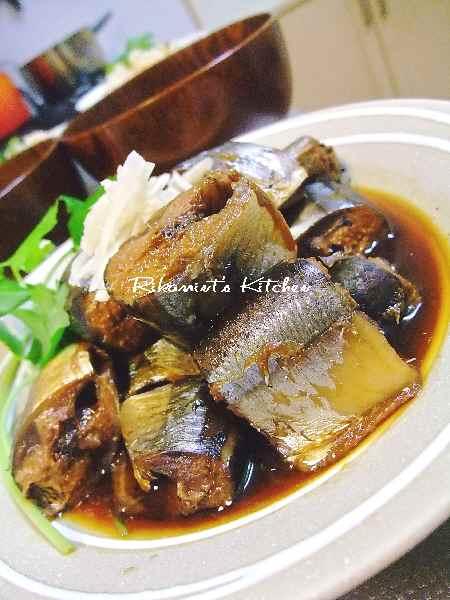 DSCF5・28秋刀魚の生姜煮2